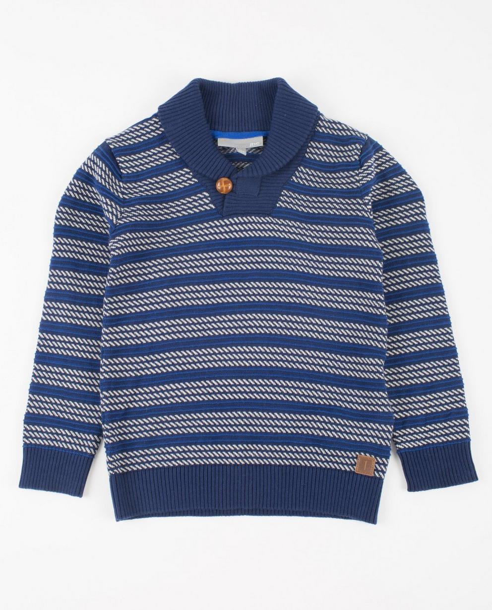 Pulls - navy - Blauwe trui met patroon